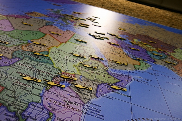 Bản đồ các quốc gia hiện đang sử dụng sản phẩm trực thăng của nhà máy Kazan.