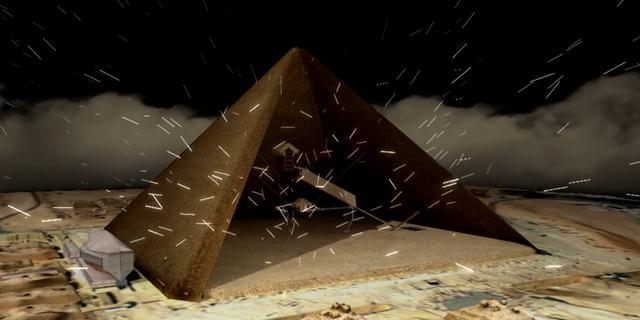 Mô phỏng cấu trúc bên trong Kim tự tháp
