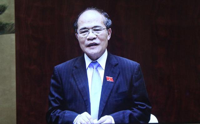 Chủ tịch QH Nguyễn Sinh Hùng.