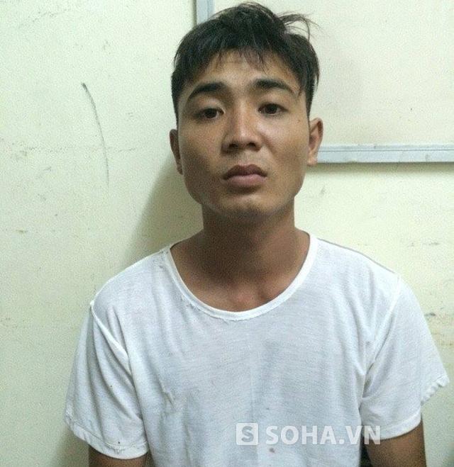 Trần Văn Giang tại cơ quan điều tra. HIện tại cơ quan công an đã khởi tố Giang về tội Giết người.