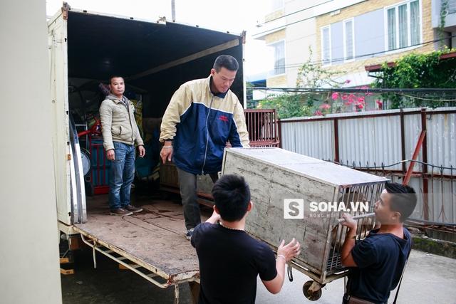 1h chiều tại Hà Nội, đoàn diễn viên 3 Liên đoàn xiếc Việt Nam đang xếp những vật dụng cần thiết và đưa các diễn viên đặc biệt lên xe để chuẩn bị cho buổi diễn tại Hải Phòng vào buổi tối.