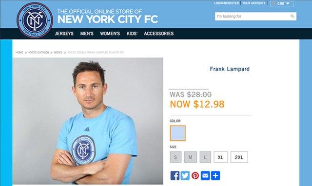 Lampard đang xuống giá trong mắt CĐV New York City FC