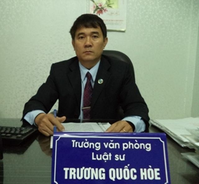 Luật sư Trương Quốc Hòe – Trưởng văn phòng Luật sư Interla (đoàn luật sư Hà Nội).