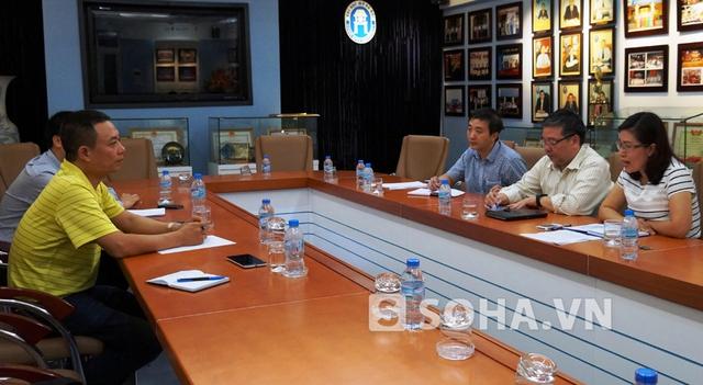 Viện Đại học Mở Hà Nội tổ chức cuộc họp thông tin về vụ của ông Sướng vào ngày 17/7 (Ảnh: Nam Dũng)