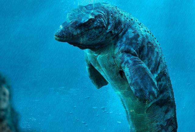 Loài khủng long dưới biển Mosasaur - Chúng có chiều dài hơn 18 m và nặng khoảng 20 tấn