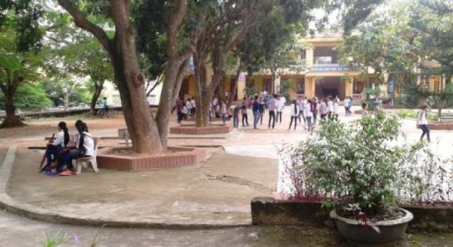 Một góc trường THCS Nhân Đạo, nơi 7 học sinh bị cô giáo bắt xúc miệng bằng xà phòng. Ảnh: NĐT