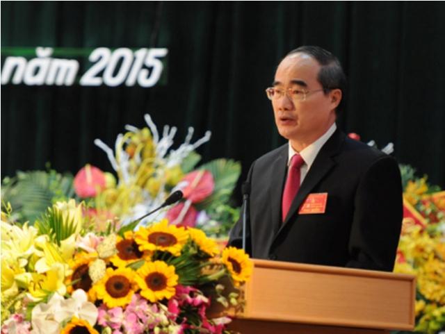 Ông Nguyễn Thiện Nhân phát biểu tại Đại hội.