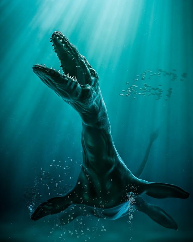 Predator X - Với bộ hàm dài gần 3m, thủy quái này có thể thực hiện cú ngoạm mạnh gấp 4 lần so với khủng long khổng lồ Tyrannosaurus rex và gấp 10 lần so với bất kể động vật nào hiện đang tồn tại trên Trái Đất. Chúng có cơ thể dài 15 m và nặng 45 tấn.