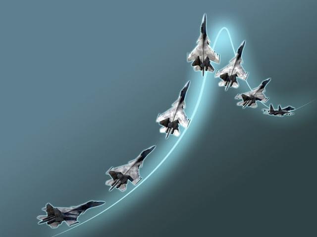 Các trạng thái của máy bay khi thực hiện động tác Rắn hổ mang Pugachyov.