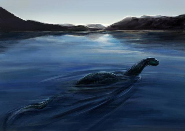 Hình ảnh dựng của quái vật hồ Loch Ness