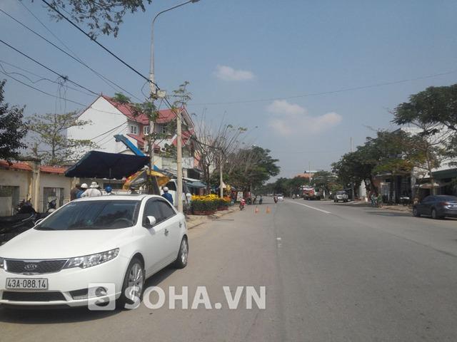 Đường tỉnh 605 nối từ trung tâm thành phố chạy qua xã Hòa Tiến (Hòa Vang), quê hương của ông Nguyễn Bá Thanh.