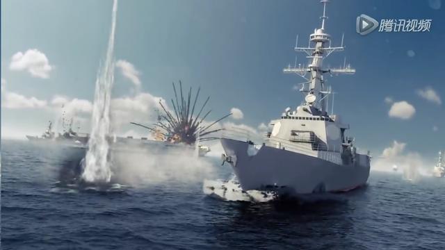 Một hình ảnh trong đoạn video mô phỏng chiến tranh chiếm đảo được đăng tải công khai trên trang Tencent của Trung Quốc.