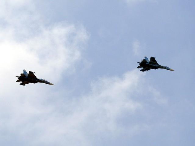 Biên đội Su-30MK2 của Trung đoàn Không quân 935. Ảnh: Quân đội nhân dân.