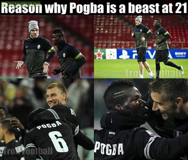 Vì chơi với Bendtner nên Pogba tiến bộ nhanh chóng?
