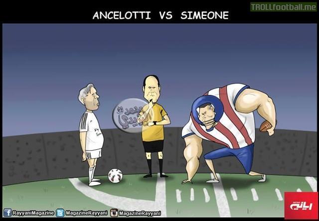 Ông béo Ancelotti đối đầu võ sĩ Simeone