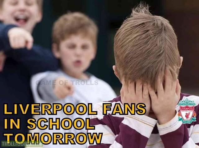 Fan Liverpool rất thất vọng sau trận thua