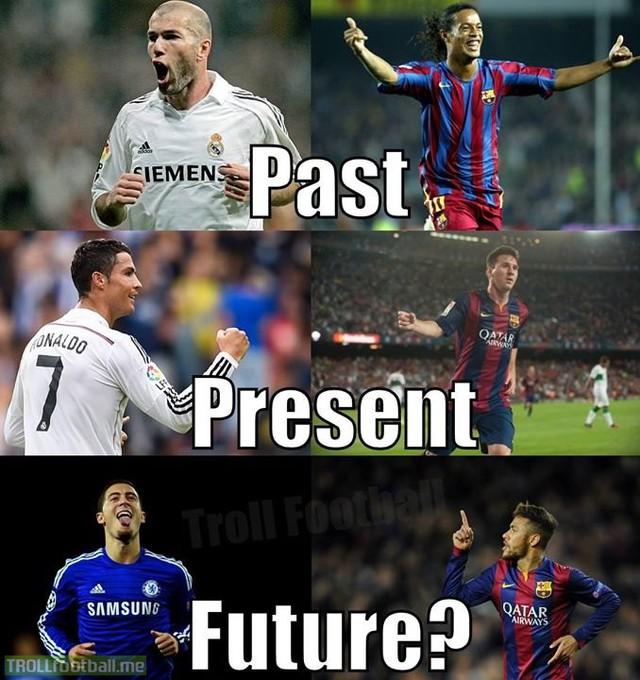Hazard và Neymar là tương lai của bóng đá