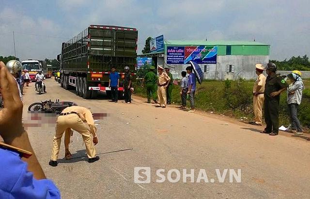 Khoảng 9h sáng (ngày 18/5) vụ tai nạn thương tâm tại địa bàn xã Đại Lâm, huyện Lạng Giang, tỉnh Bắc Giang, giữa hai chiếc xe máy.