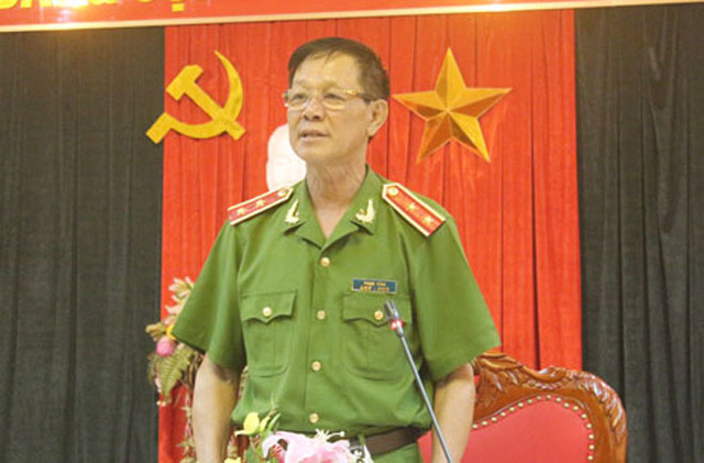 Trung tướng Phan Văn Vĩnh, Tổng cục trưởng Tổng cục Cảnh sát, Trưởng ban chuyên án chia sẻ những bí quyết khám phá thành công vụ thảm án ở Bình Phước. Ảnh: CAND.