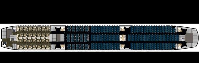 Sơ đồ bố trí các khoang ghế trên máy bay Boeing 787-9 của  Vietnam Airlines. Ảnh: Vietnamairlines