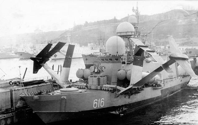 Cận cảnh các cánh ngầm của tàu tên lửa Sarancha