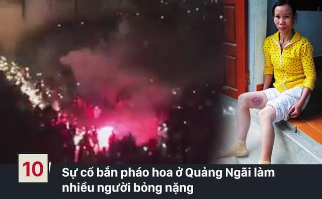Đêm Giao thừa ở khu vực Quảng Trường (TP Quảng Ngãi), khi hàng ngàn người dân đang xem bắn pháo hoa thì bất ngờ pháo phát nổ bắn tung tóe về phía họ khiến hàng trăm người tháo chạy hoảng loạn. 5 người phải nhập viện cấp cứu. (Ảnh: Người lao động/Zing)