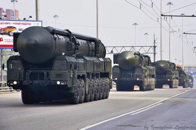 Tên lửa xuyên lục địa Topol-M của Nga.