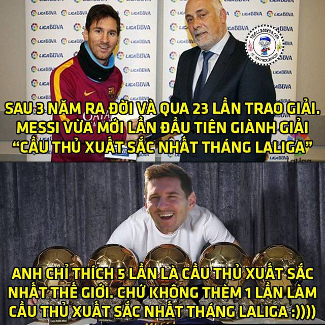 Messi là giải thưởng lạ lùng của La Liga.