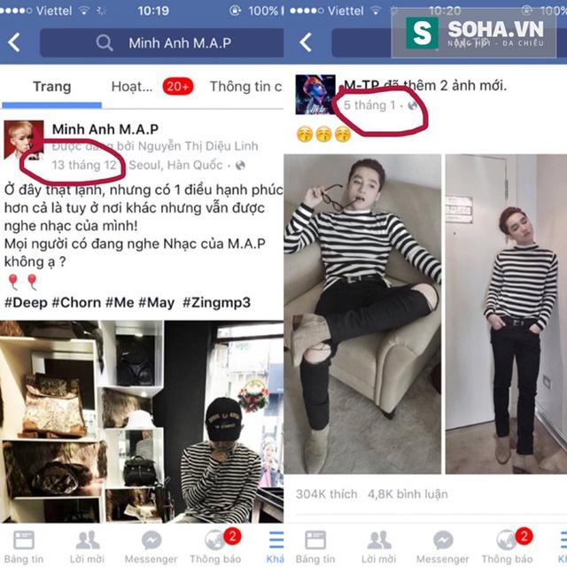Bức ảnh Minh Anh khoanh tròn ngày tháng để chứng minh cho câu nói:  Có phải Sơn Tùng đang đạo mình hay không?