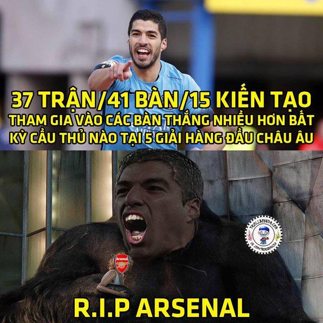 Suarez đang sẵn sàng đè bẹp Arsenal.
