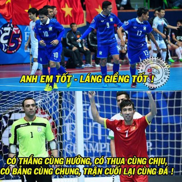 Futsal Việt Nam và Thái Lan thật có duyên nợ.