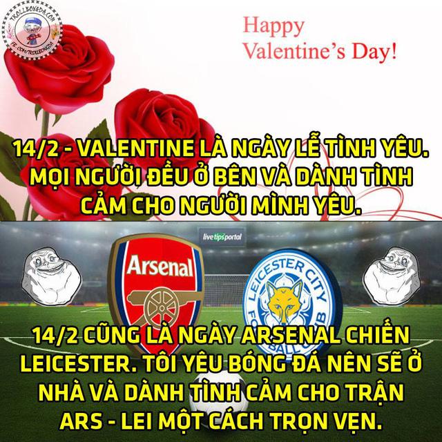 Ngày Valentine của không ít fan bóng đá.