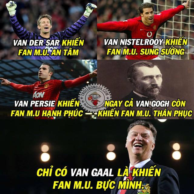 Van - United dường như đã kết thúc dưới tay Van Gaal.