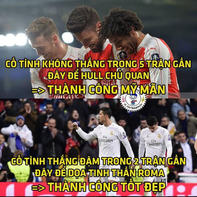 Arsenal cũng giành chiến thắng như Real Madrid.