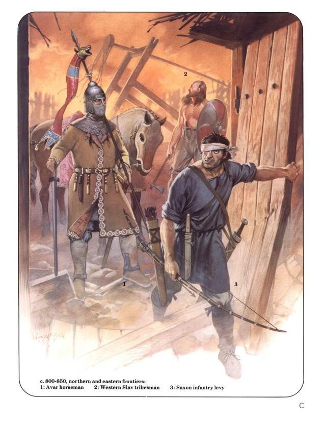 Tranh vẽ 1 cuộc truy lùng nữa của người Frank, trong cuộc truy lùng có sự tham gia của giáp kỵ người Avar và bộ binh Slav (sau khi chuyển sang đạo cơ đốc thì những dân tộc này tỏ ra rất trung thành với người Frank).
