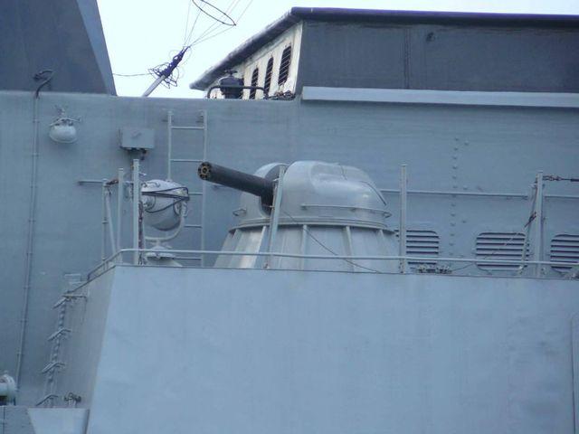 Tổ hợp phòng không AK-630M giấu bên trong thân tàu.
