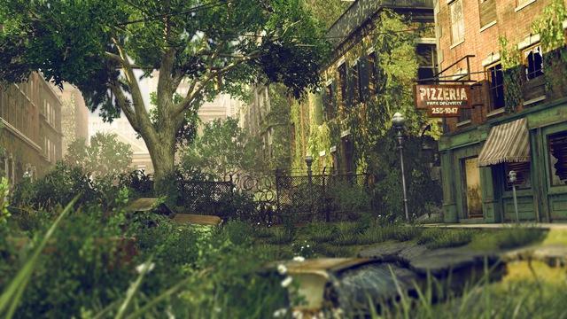Thành phố bị bao phủ bởi thực vật