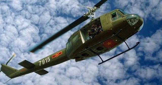 Trực thăng UH-1, chiến lợi phẩm của Mỹ hiện vẫn đang hiện diện trong biên chế của Không quân Việt Nam.