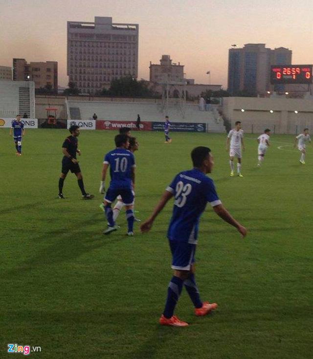 U23 Việt Nam gục ngã trước U23 Yemen với tỉ số 1-2 (ảnh: Zing).