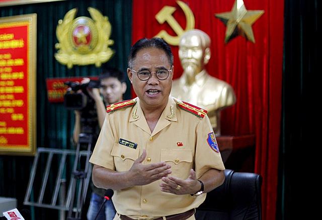Đại tá Đào Vịnh Thắng - Trưởng phòng CSGT Đường bộ, Đường sắt - Công an TP Hà Nội. Ảnh: Phạm Hải