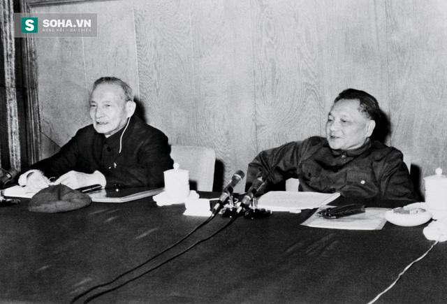 Trần Vân (trái) và Đặng Tiểu Bình tại Hội nghị trung ương 3 khóa XI của ĐCSTQ năm 1978. (Ảnh tư liệu)