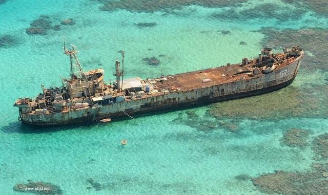 Vụ việc tàu BRP Sierra Madre là vấn đề chính trong mâu thuẫn trên biển Đông giữa Trung Quốc và Philippines. Ảnh: Huanqiu