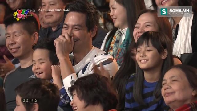 MC Phan Anh và con gái được ống kính máy quay chiếu cận mặt khá nhiều lần.