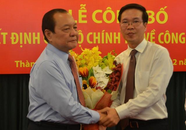 Ông Lê Thanh Hải tin tưởng ông Võ Văn Thưởng sẽ luôn hoàn thành nhiệm vụ được giao