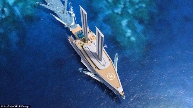 Cột buồm cao đón gió giúp du thuyền tiết kiệm nhiên liệu