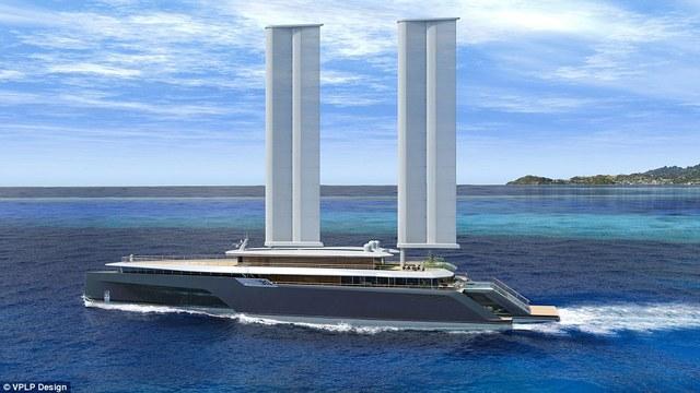 Siêu du thuyền có hai cánh dựng đứng đón gió