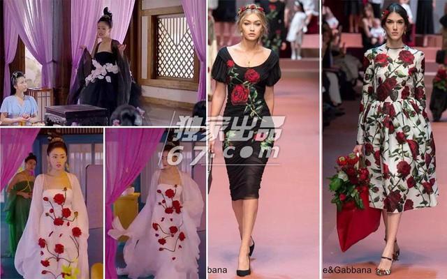 Trang phục của nhân vật nữ chính có chất liệu vải khá đắt và nổi bật với họa tiết hoa theo thiết kế của Dolce&Gabbana.