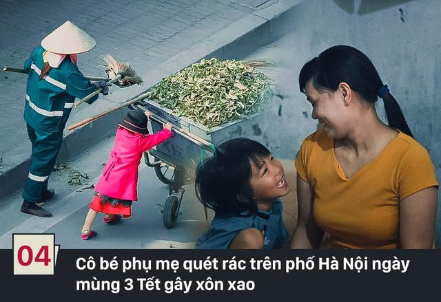 Đây là hình ảnh của hai mẹ con chị Thơm (một công nhân vệ sinh) gây xúc động mạnh và được chia sẻ nhiều trên mạng xã hội từ hôm mùng 3 Tết Bính Thân. Hai mẹ con chị hiện đang sống trong căn phòng trọ nhỏ, tuềnh toàng ở làng Phú Đô (Hà Nội). (Ảnh: Facebook/Thế giới trẻ)
