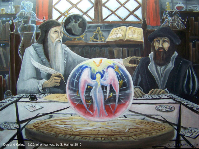 John Dee tìm cách giao tiếp với thiên thần.
