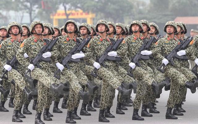 Khối bộ đội đặc công Bộ Tư lệnh Thủ đô Hà Nội. (Ảnh: Minh Sơn/Vietnam+)